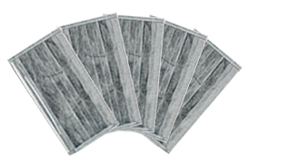 Disposable 4ply active carbon face masks