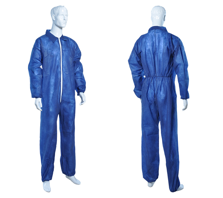 disposable spp coveralls with collar
