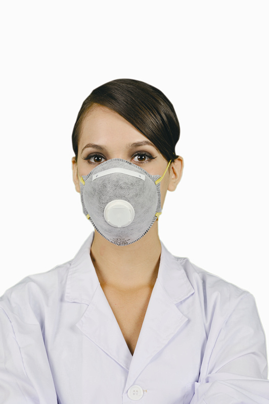 Disposable active carbon respirator