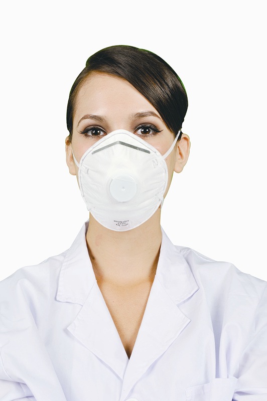 Disposable FFP2 respirator mask